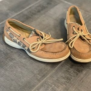 Leopard print Sperry Boat shoes